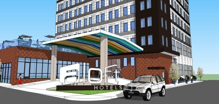 Aloft by Marriott Entrance Design