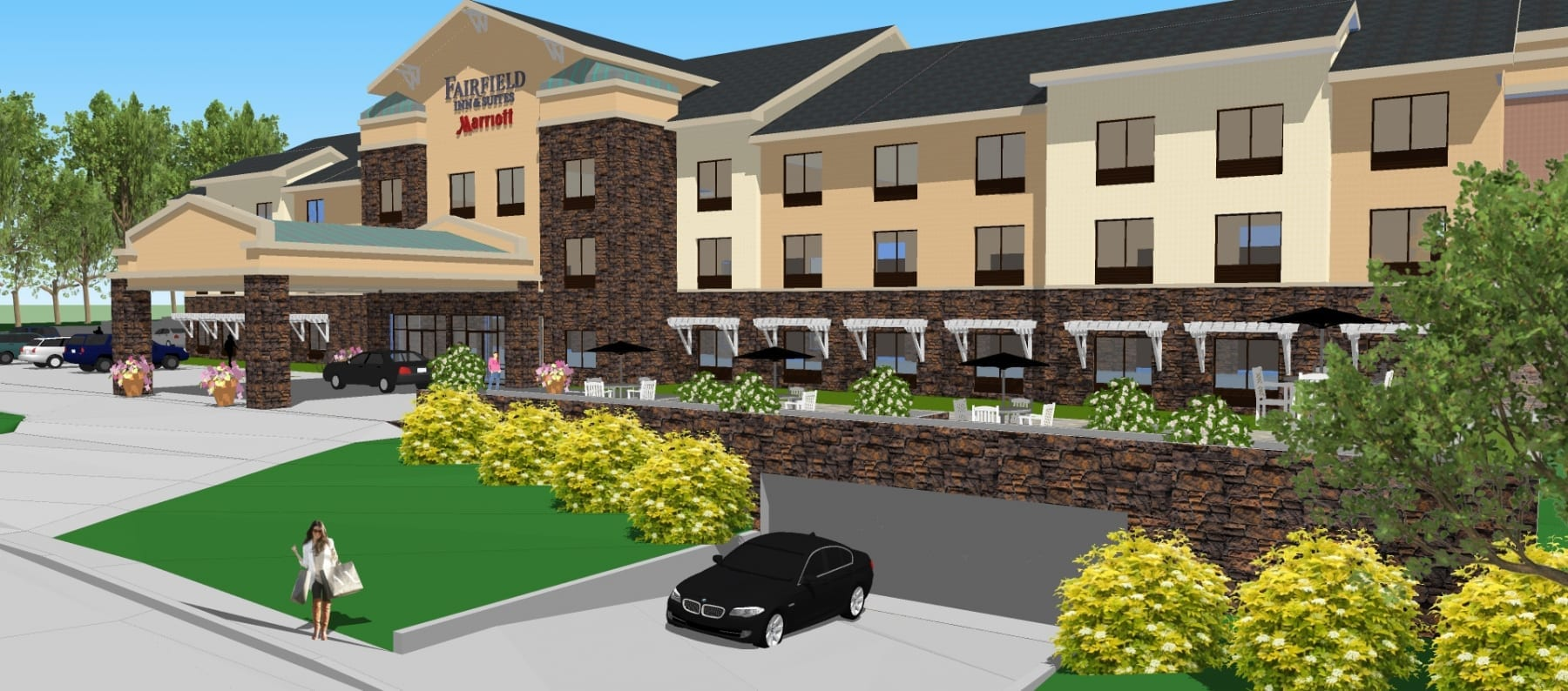 Marriott Fairfield Inn & Suites in Santa Cruz designed by top hotel architect