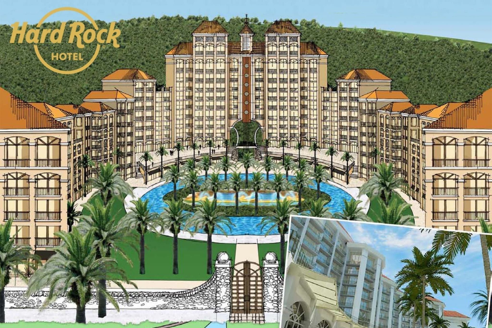 Hard Rock Hotel Plans and Masterplanning by MWT Hotel & Resort Architect